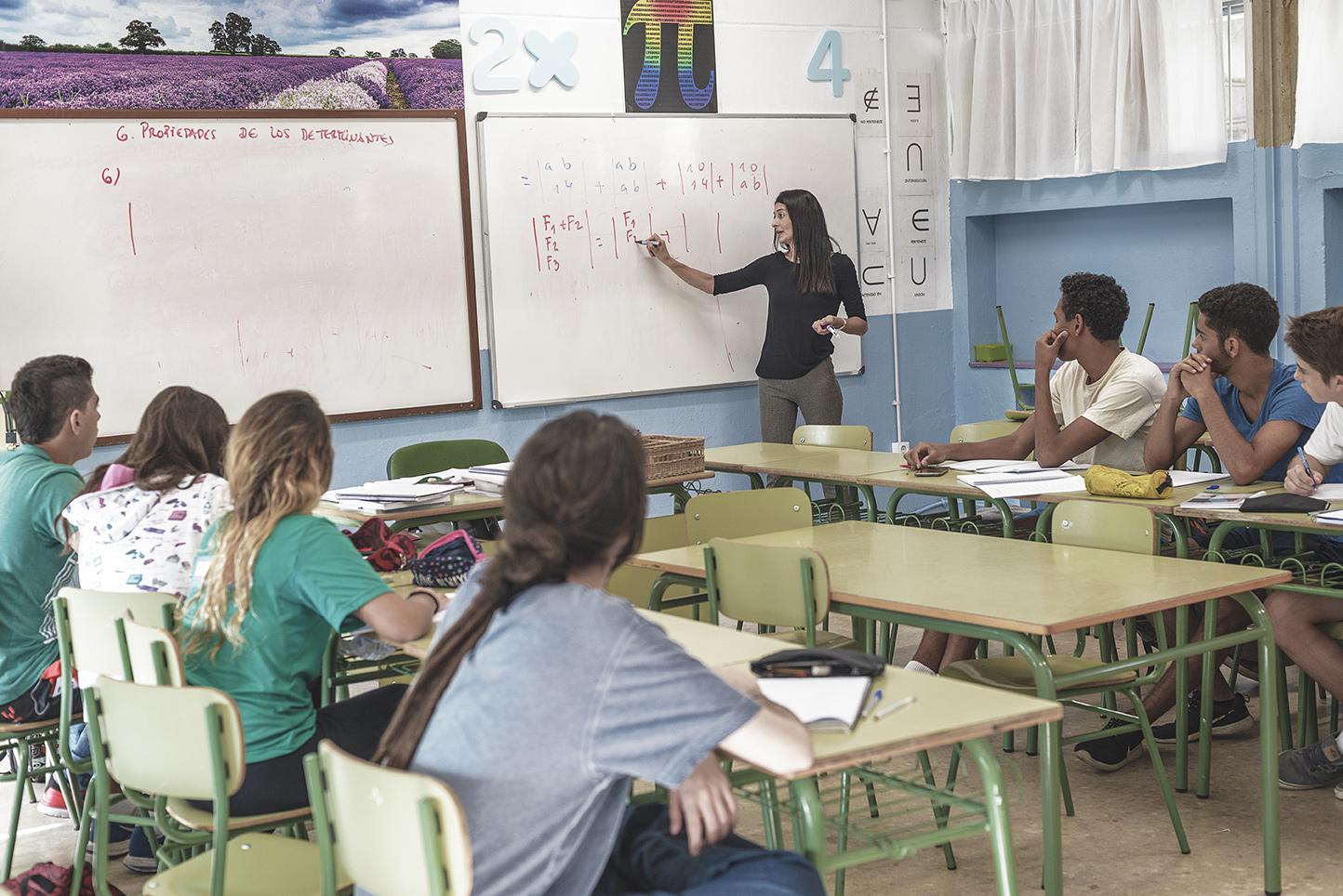 Colegio Aljarafe en clase de Matemáticas