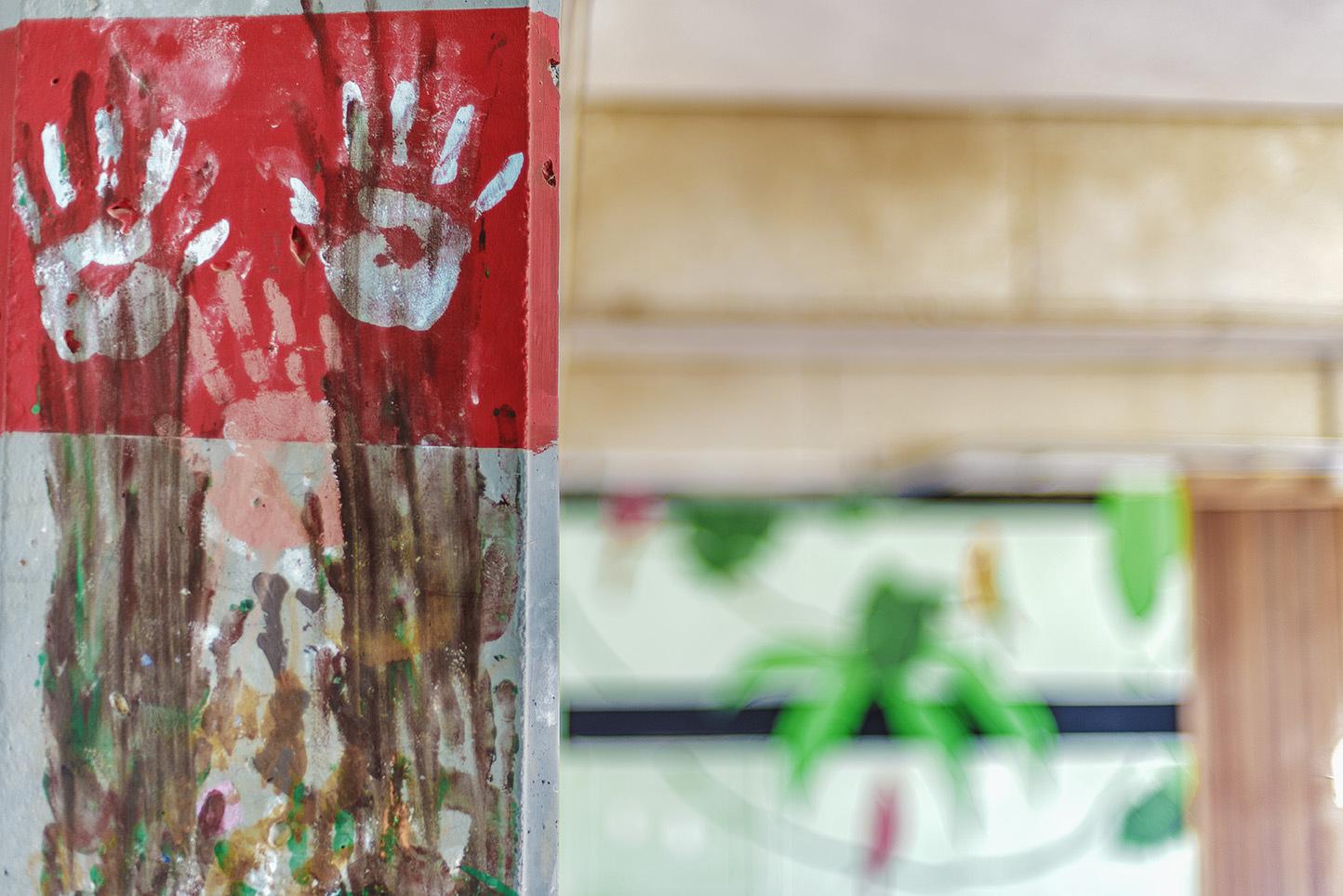 Colegio Aljarafe arte en las paredes