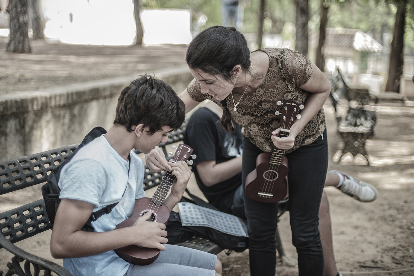 Colegio Aljarafe música con Ukelele