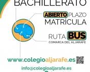 Matricula bachillerato curso 2018-2019