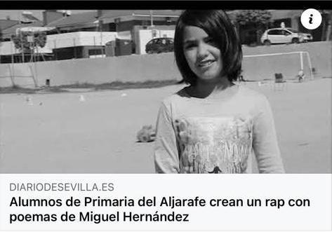 Alumnos de Primaria del Aljarafe crean un rap con poemas de Miguel Hernández