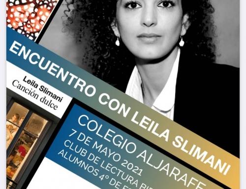 La escritora Leila Slimani en el Colegio Aljarafe